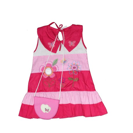 Sunflower And Butterfly Baby Dress With Small Side Bag Silver Scene