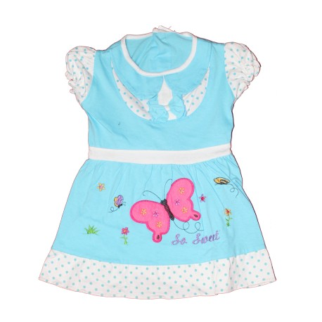 Butterfly So Sweet Design Baby Dress Silver Scene